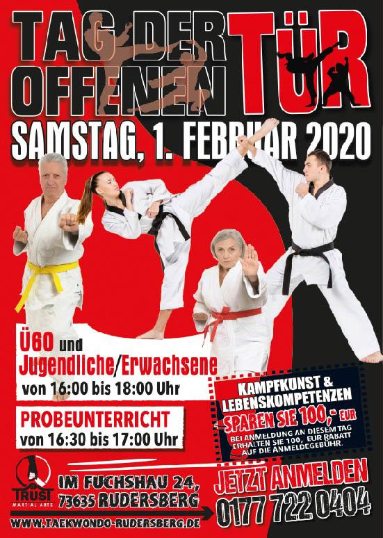 Taekwondo für Kinder ab 3,5 Jahren, Jugendliche und Erwachsene